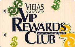 Viejas Casino - Alpine CA - Slot Card With BLACK Barcode & Name - Casinokarten