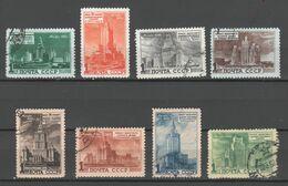 Sowjetunion 1950 , Moskauer Hochbauten , Kompletter Satz Gestempelt ( 280.-) - Oblitérés