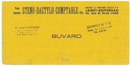 BUVARD TAMPON ETS JAMET-BUFFEREAU SUCCURSALE DE LILLE - JAMET-BUFFEREAU 96 RUE DE RIVOLI PARIS STENO-DACTYLO-COMPTABLE - Papierwaren