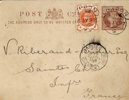"1897- C P E P Half-Penny From London  -back, "" Repiquage ""   The O_Pride Of Mount Margaret,Limited - 1840-1901 (Regina Victoria)"