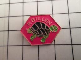 715b Pins Pin's / Rare & Belle Qualité THEME ANIMAUX / TORTUE R BILLEN - Animals
