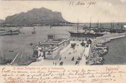 PALERMO-MONTE PELLEGRINO PORTO -CARTOLINA VIAGGIATA IL 12-3-1901 - Palermo