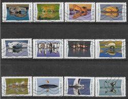 2020 FRANCE Adhesif 1815-26 Oblitérés, Reflet Animaux, Série Complète - KlebeBriefmarken