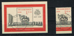 DEUTSCHLAND/ DDR -  Block 89  Und Marke # 3123 Aus Block - Mit Tagesstempel  - 750 Jahre Berlin - 1187 - [6] Democratic Republic