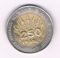 250 FRANCS 1992  AFRICA L'QOUEST /7021/ - Monete