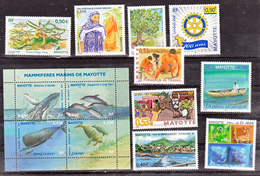Mayotte Année 2005 Complète P Neuf ** TB MNH Sin Charnela Faciale 7.5 - Mayotte (1892-2011)
