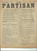 Le Partisan  Region De Tournai  Antoing  Peruwelz  Lessines  Ath  Mouscron Quievrain    Le 11 Septembre 1944 - Giornali