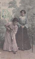 """2 Jeunes Femmes Jouant Au CRIQUET En Tenue 1900 """"Car Dans Une Exquise Allée .... L'on Peut Jouer Au Criquet """"(Beau Plan) - Other"""