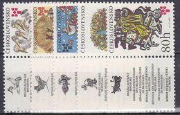 ** Tchécoslovaquie 1975 Mi 2267-71 Zf (Yv 2112-6 Avec Vignette), (MNH) - Unused Stamps