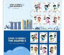 Singapore 2020 Covid-19 Series I The Soaper 5 FDC MNH - Singapur (1959-...)