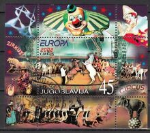 Joegoslavie Blok  Europa Cept 2002 Gestempeld Fine Used  Sheet - 2002