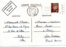 Entier 80c Pétain Obl. VICHY(Allier) Quinzaine Impériale 1942 - Sellado Mecánica (Otros)