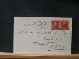 90/617  CP USA  POUR LA BELG. 1903 - Storia Postale