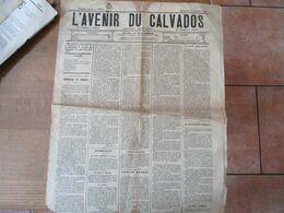 L'AVENIR DU CALVADOS DU31 OCTOBRE 1886 PARTIE DE TIMBRE CACHET POSTAL CAEN 3 NOV 86 - Zeitungen