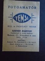 ZA321.15 Ancienne Pochette Vide Pour Négatifs Et Photos  TENSI  -Szenes Márton  Budapest  - Hongrie  Ca 1930 - Zubehör & Material