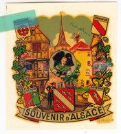 Oih-  Décalcomanie  L'ALSACE - Alsace