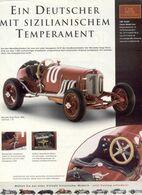 Page De Publicité CMC CLASSIC MODEL CARS 2005 Mercedes Targa Florio 1924 Maßstab 1/18 - Panzer