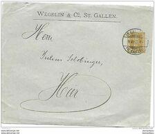 36 - 69 - Entier Psotal Privé Wegelin & Co St Gallen 1910 - Postwaardestukken