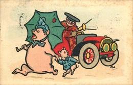 MM.VIENNE M.MUNK Cochon , Automobile    N°490 - Vienne