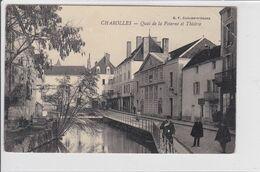 CHAROLLES  *  Quai De La Poterne Et Théâtre  -  CPA En Bon état - Charolles