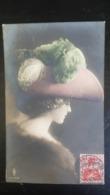 Grete Reinwald Avec Grand Chapeau à Plumes - Portraits