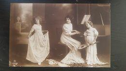 Grete Reinwald Dansant Avec Femme Piano Fillette Mandoline - Portraits