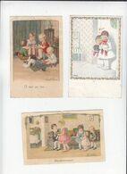 Illustrateur D'enfants Pauli Ebner / Lot De 3 /  Dont 2 En Chromolitho / Voir état - Ebner, Pauli