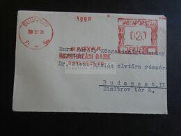 ZA321.21  Hungary Small Cover - EMA METER  - Magyar Beruházási Bank  Budapest Ca 1960  Riesz Miklós Elvtárs Részére - Hungary