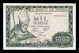 España Spain 1000 Pesetas San Isidoro 1965 Pick 151 Serie W MBC/+ VF/+ - [ 3] 1936-1975 : Regime Di Franco