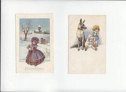 Illustrateurs D'enfants / Lot De 2 CP Italie / Bertiglia - Bertiglia, A.