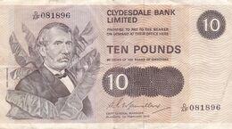 BILLET ECOSSE 10 POUNDS 1978 - David Livingstone - Clydesdale Bank Limited - Dromadaire Camel Scène Africaine - Pick 207 - 10 Pounds