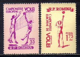 Romania Sc# 1034-1035 (1955) European Volleyball Championship Full Set OG MNH** - Ongebruikt