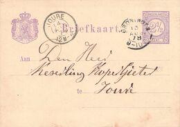 NETHERLANDS - BRIEFKAART 1878 GRONINGEN - JOURE /AS122 - Ganzsachen
