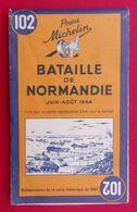 Carte Michelin N° 102 - Bataille De Normandie - Juin - Août 1944 - Réédition De 1994 - Cartes Géographiques