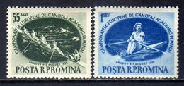 Romania Sc# 1054-1055 (1955) European Women's Rowing Champ Full Set OG MNH** - Ongebruikt