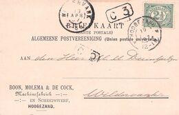 NETHERLANDS - BRIEFKAART 1907 HOOGEZAND - WILDERVANK  /AS134 - 1891-1948 (Wilhelmine)