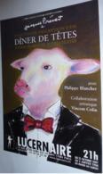 Carte Postale - Dîner De Têtes (Jacques Prévert) Théâtre Lucernaire (veau - Vache) - Advertising