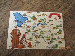 Barre Dayez Depot Legal  1945 Tchad Afrique Carte Illustree - Fantasia