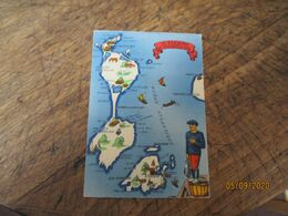 Barre Dayez Depot Legal  1945  Saint Pierre Et Miquelon  Carte Illustree - Fantasia