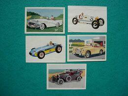 Lot De 9 Images Vignettes TOBLER L'automobile Séries N°1 Et 4 - Otros
