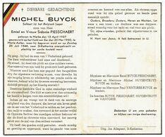 Michel BUYCK - Geb. Marke 1907 - Gesneuveld Op Veld Van Eer 26 Mei 1940 Te Maria Aalter - Begraven 1948 St Katherina - Obituary Notices