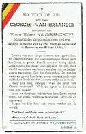 Georges Van ELSLANDER - Geb. Kuurne 1908 - Gesneuveld Te Duinkerke 21 Mei 1940 - Obituary Notices
