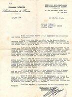 E 2 1941 LETTRe De Georges Scapini  Ambassadeur De France En Allemagne Signature Autographe - Guerra De 1939-45