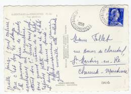 SAUVETERRE De COMMINGES Hte Garonne, Cachet B7 1959, Marianne Muller 20f N° 1011B, Carte St Bertand - Poststempel (Briefe)