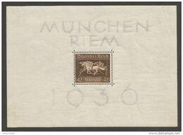 Deutsches Reich Deutschland Germany Mi.Block 4 MNH / ** / Postfrisch 1936 Horse - Bloques