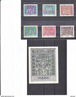 POLOGNE 1960 OEUVRES D'ART Yvert 1044-1049 + BF 25 NEUF** MNH Cote : 27,50 Euros - 1944-.... Republic