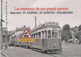 210T - Trams Anciens De Saint-Etienne (42) Au Terminus De Terrasse - - Tramways