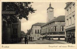 Enschede Langestraat Met Nieuw Stadhuis VN1568 - Enschede