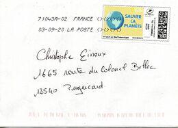 FRANCE. Enveloppe Ayant Circulé En 2020. Sauver La Planète. - Environment & Climate Protection