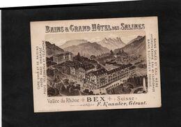 BEX (Suisse) - BAINS & GRAND HOTEL Des SALINES - F.KUSSLER Gérant - Liste Des Excursions Et Carte. - Werbung